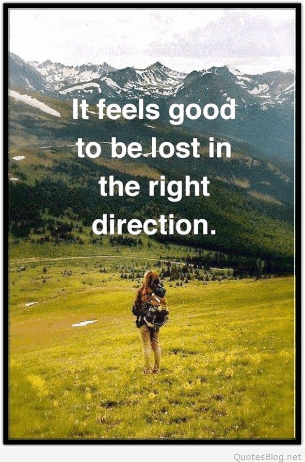 Lost in the right direction…